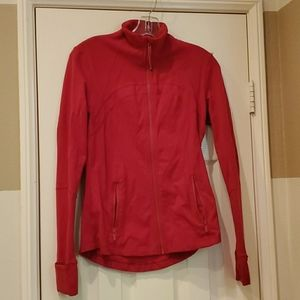 Lululemon dark red zippered jacket. Size 8.